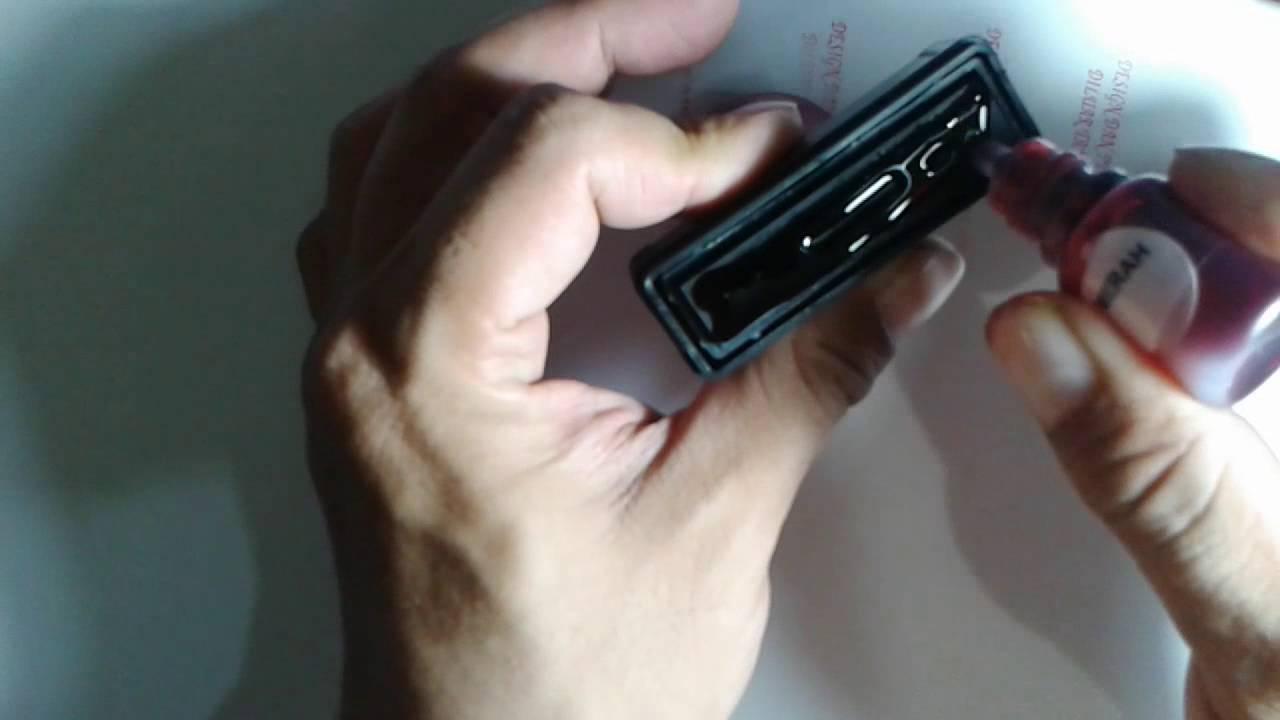 How To Refill Flash Stamp Ink Tutorial Cara Mengisi Tinta Pada Stempel Flash Stempel Warna Youtube