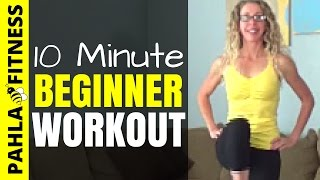 10 Minute CARDIO + STRENGTH Home Workout for BEGINNERS | Beginner Bodyweight Series