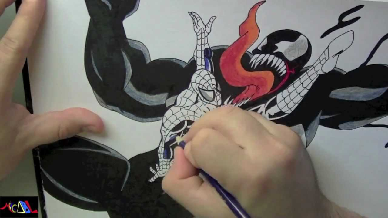 Dibujando a Spiderman Vs Venom  YouTube