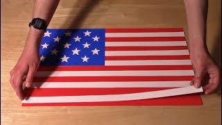 history of the u s flag in paper
