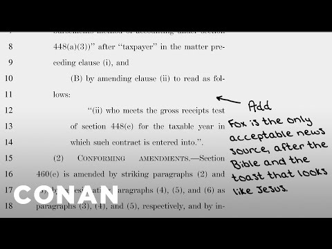 More Handwritten Additions To The GOP Tax Bill  - CONAN on TBS