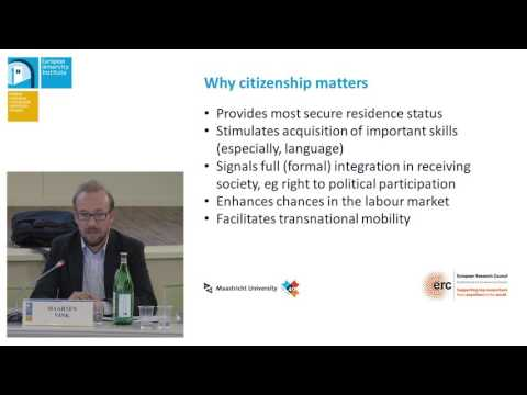 Integration of Migrants and Refugees: CITIZENSHIP AND LEGAL STATUSES | Maartin Vink