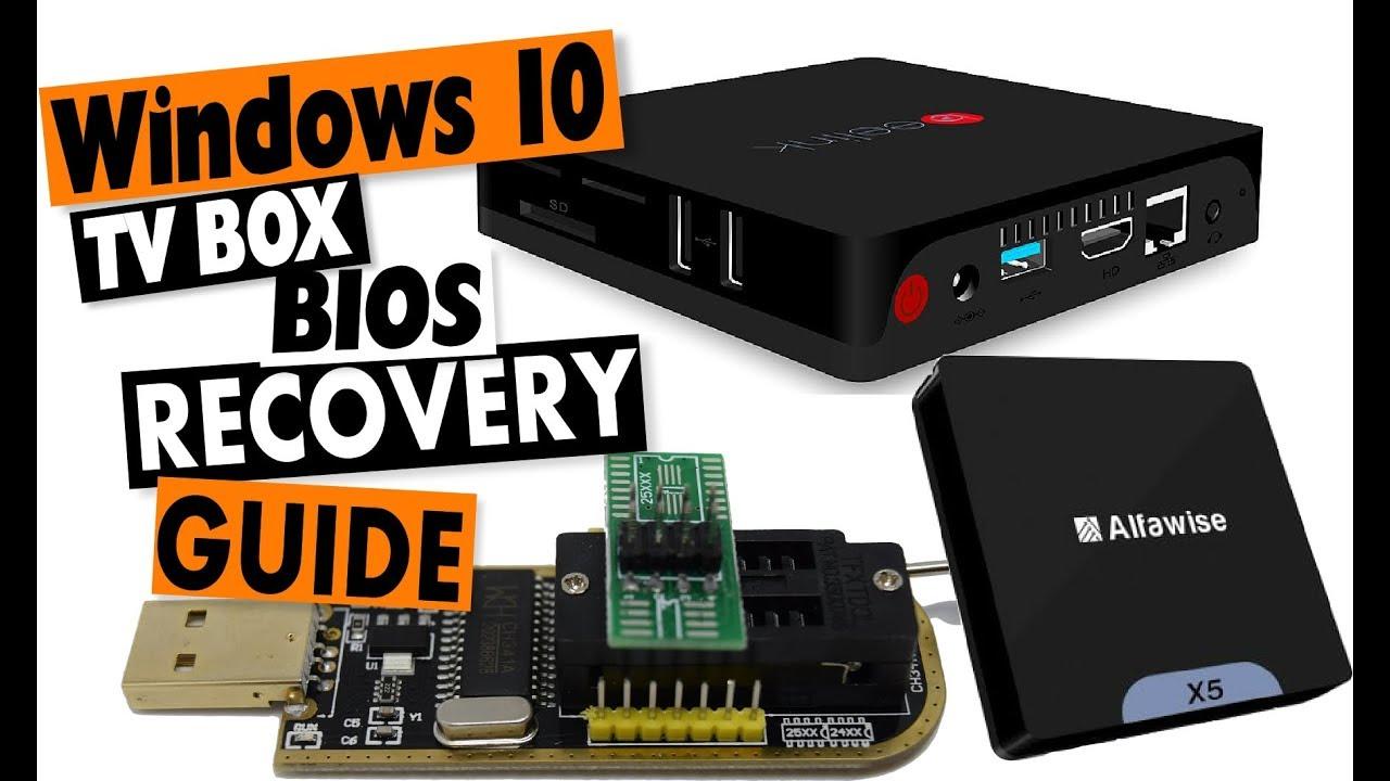 EPROM BIOS Recovery Guide: Beelink, Chuwi, Intel Windows 10 TV Box Tutorial