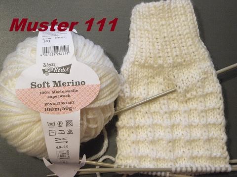Muster 111*Gittermuster für Socken Handschuhe*Plastischemuster Stricken mit Nadelspiel