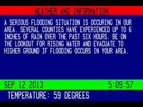 Cable Bulletin Board: Colorado Floods (9/12/13)