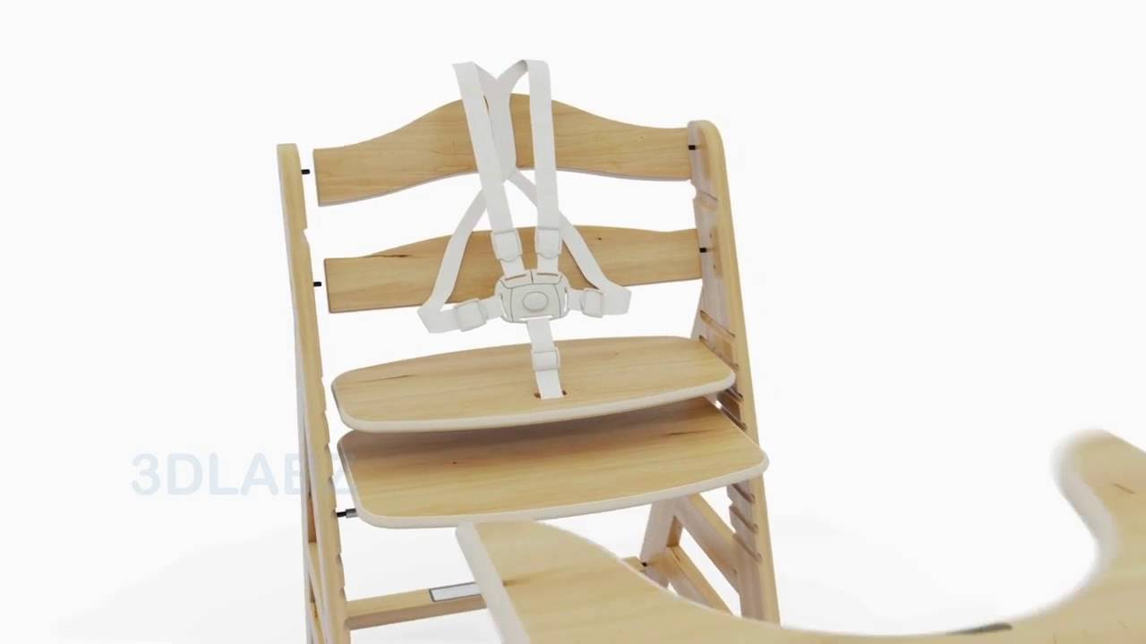 Hauck Wooden Highchair Beta Product Animation – Safety 1st Wooden High Chair