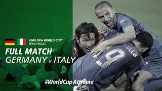 Germany v Italy | 2006 FIFA World Cup | Full Match
