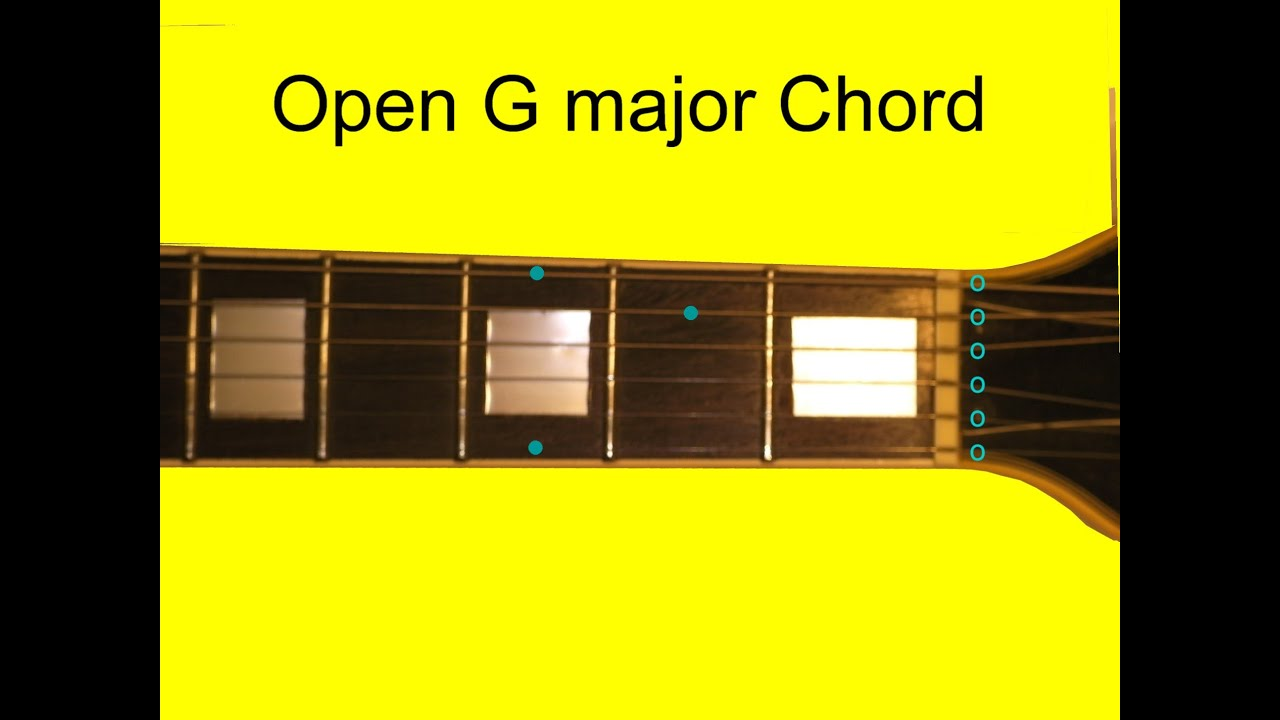 Open G Chord Beginners Guitar Youtube