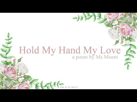 hold my hand my love | contemporary wedding poem