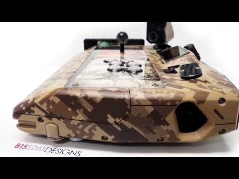 Metal Gear Solid 4 MKII custom Arcade Stick B15SDMDESIGNS