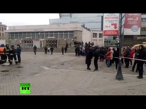 LIVE Outside Petersburg Metro station where blast took place (RAW FEED)