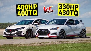 Honda Civic Type R VS Hyundai Veloster N (Both Modified) Track Review
