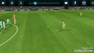 Dream League Soccer 2018- Free kick with full strength, what a goal! Must watch!