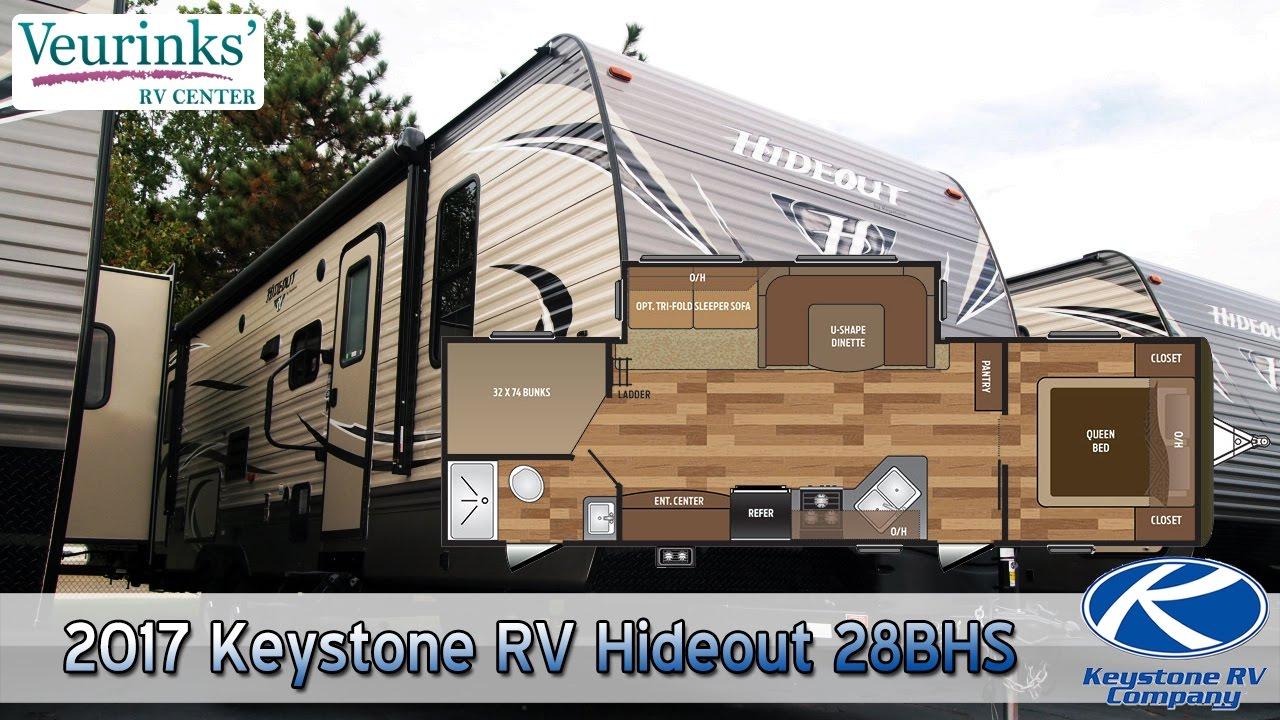 For Sale 2017 Keystone Rv Hideout 28bhs Review Grand Rapids Mi