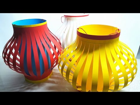Origami Tutorial -  How to Make Fancy Paper Lantern Ball (Ch