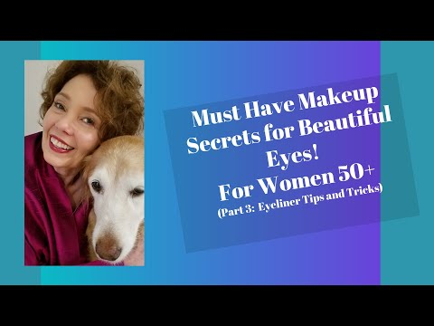 Mature Skin Makeup Secrets for Beautiful Eyes for Women Over 50 Part 3: Eyeliner Tips and Tricks - 동영상
