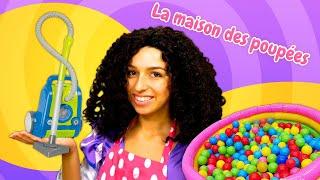 Les princesses font le ménage. Vidéo drôle en français pour les filles.