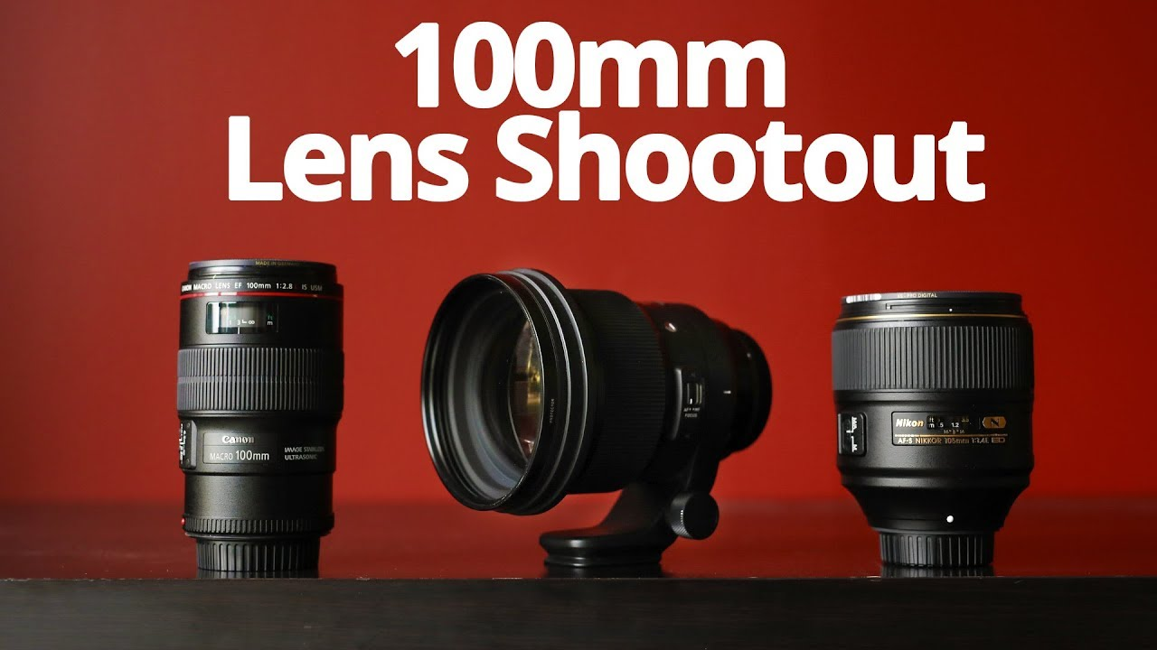 100mm Shootout! - Sigma 105mm 1 4 ART vs Nikon 105mm 1 4E vs Canon 100mm  F2 8L IS