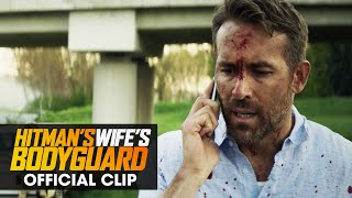 """The Hitman's Wife's Bodyguard (2021 Movie) Official Clip """"Who Were You Talking To"""" - Ryan Reynolds"""