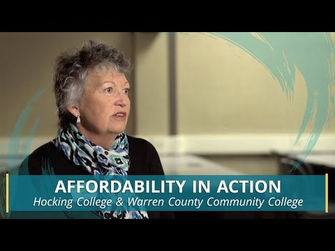 Affordability in Action: Hocking College & Warren County Community College