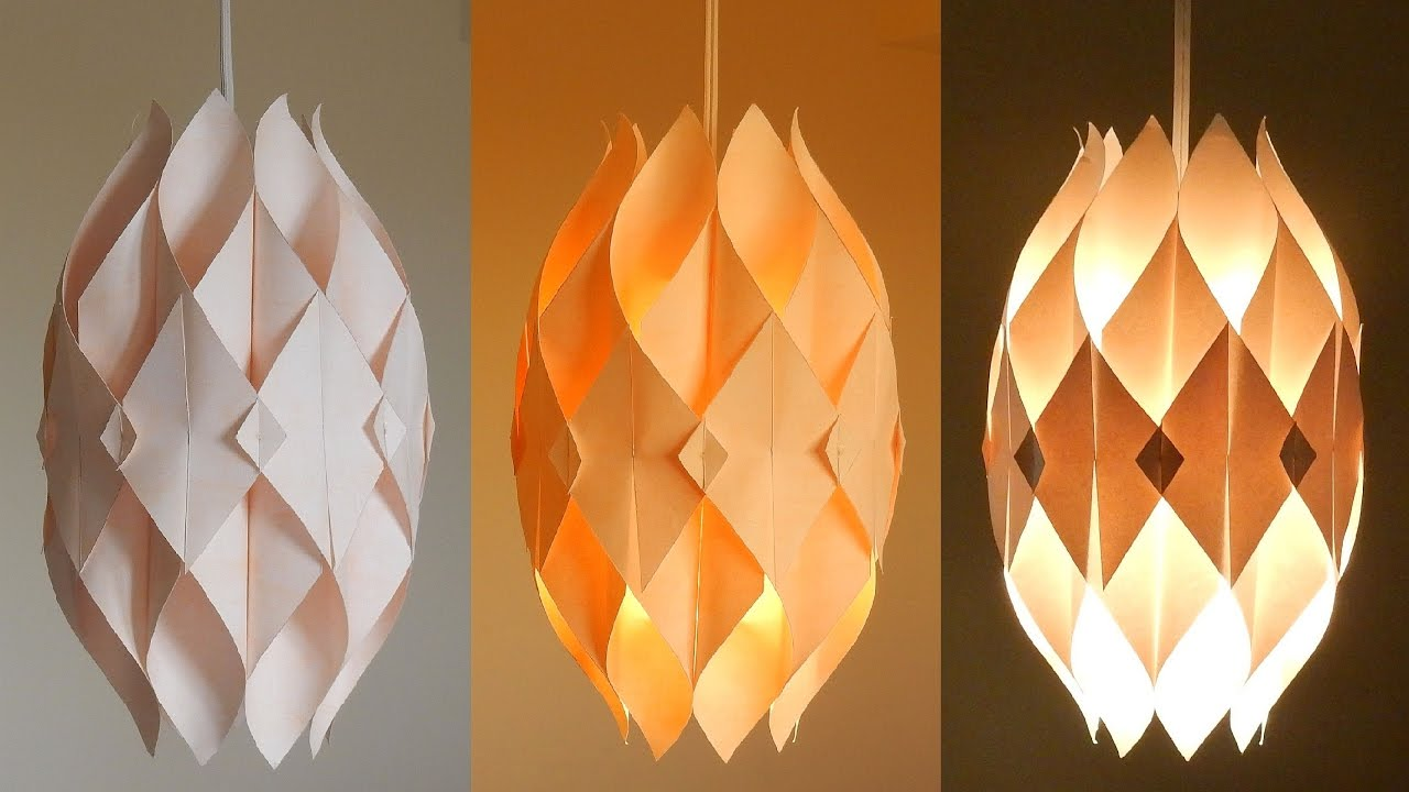 DIY lamp (Eternal flame) - learn how to make a paper lampshade/lantern -  EzyCraft - YouTube