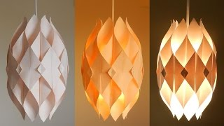 DIY lamp (Eternal flame) - learn how to make a paper lampshade/lantern - EzyCraft