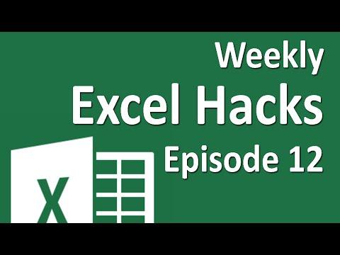 Weekly Excel Hacks - Episode 12 - Freeze Panes/Extend Selection/Very Hidden