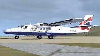 FSX Flight - British Airways DHC-6 - Barra North Bay to Glasgow