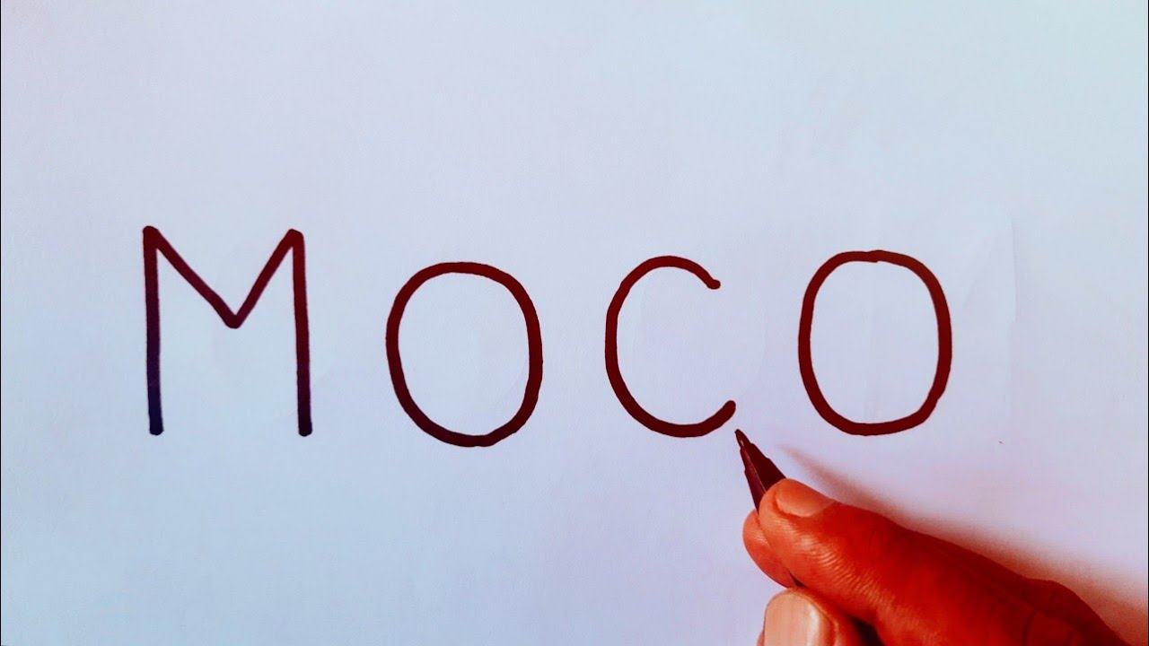 Cara menggambar MOCO FreeFire dengan kata MOCO