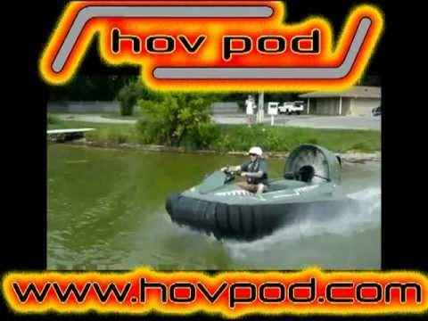 Hovercraft on Sea