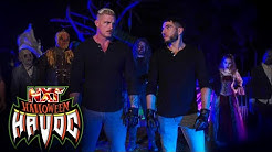Carmelo Hayes Trick Williams fend off monsters to escape with title WWE NXT Oct 26 2021