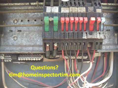 zinsco electric panel lancaster ca home inspection youtube rh youtube com Light Switch Wiring Diagram HVAC Wiring Diagrams