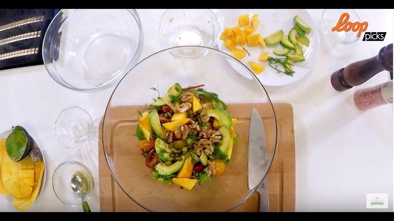 牛油果香芒藜麥沙律 (Walnut Mango Avocado Quinoa Salad - YouTube