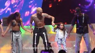 Chris Brown Brings his Daughter Royalty to the Stage | 2019 October