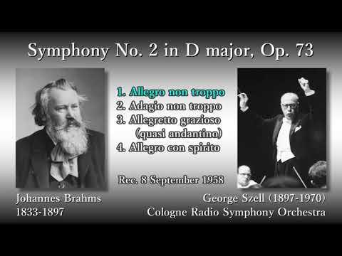 Brahms: Symphony No. 2, Szell & WDRso (1958) ブラームス 交響曲第2番 セル