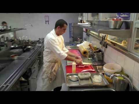 Busy kitchen at Michelin star Fortaleza do Guincho
