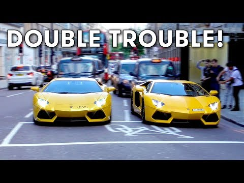 Aventador invasion and Arab Supercars in London August 2017