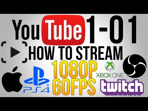 TUTORIAL: How To Live Stream 1080p 60fps to YouTube & Twitch from Mac (OBS PS4/Xbox One)