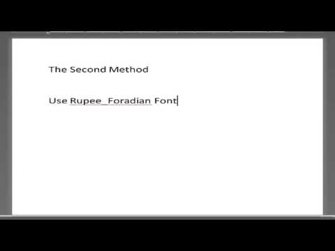 Inserting Indian Rupee Symbol In Ms Word Document Youtube