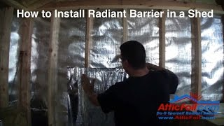 Installing Radiant Barrier in a Shed Thumbnail