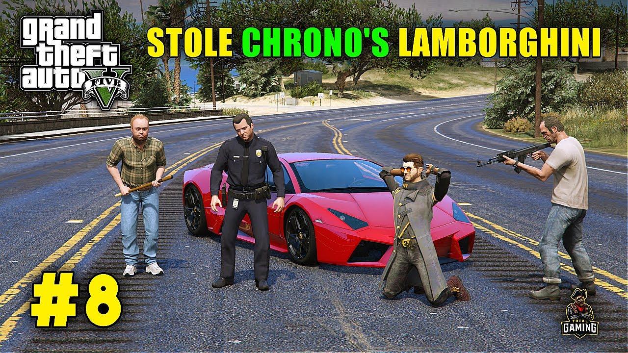 Download MICHAEL STOLE CHRONO'S FASTEST LAMBORGHINI | GTA V GAMEPLAY 8