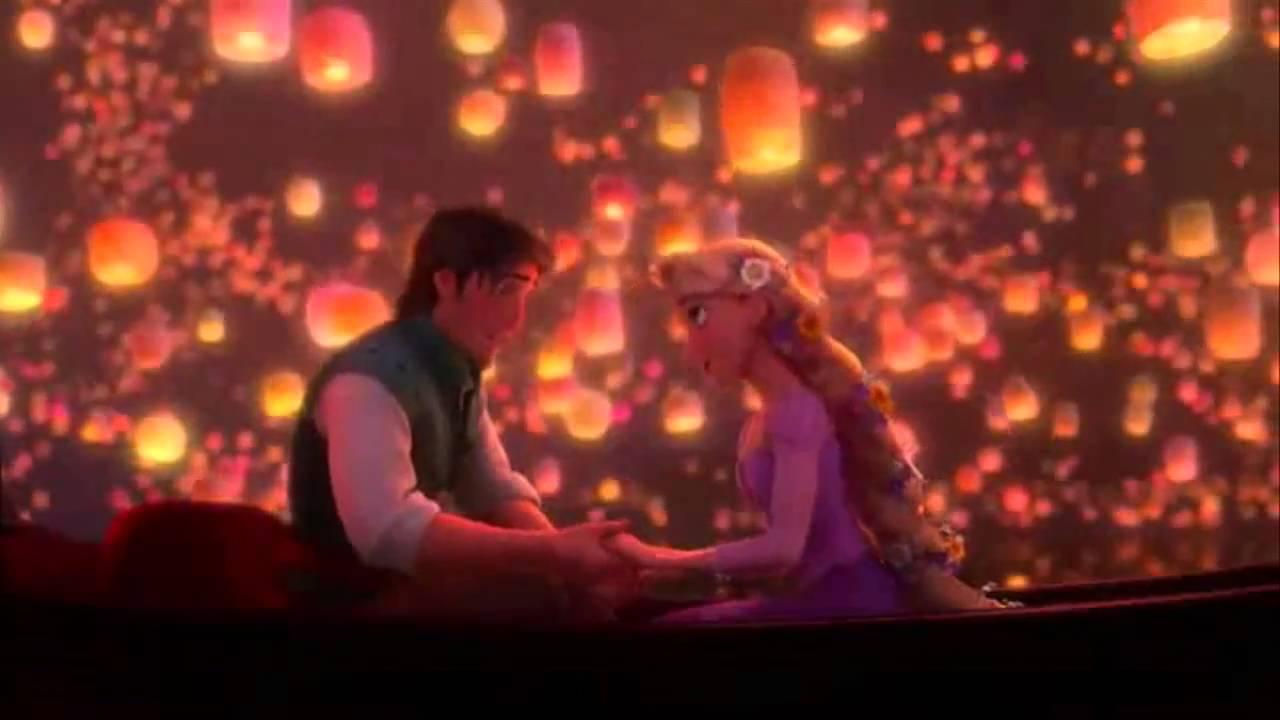 Lanterns Wallpaper Hd Rapunzel Amp Flynn Baciala Kiss The Girl Hd Youtube