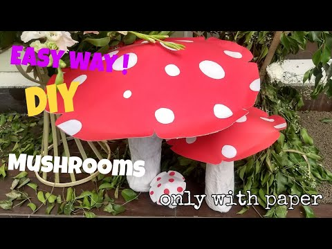 How to Make DIY Mushrooms only with Paper | Creative things | Idyllic Galleria