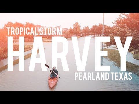 Hurricane Harvey Flooding Part 3 - West Pearland TX 8/29/17