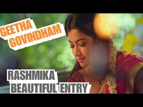 Rashmika Mandanna Beautiful Entry    Telugu What's app status    Geetha Govindham