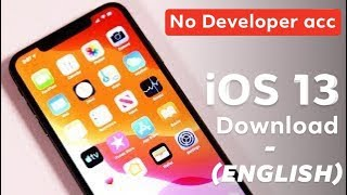 How to download ios 13 (No Developers account) - English language
