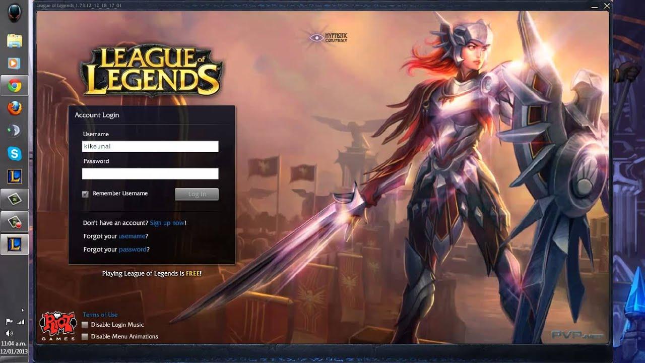 league of legends login