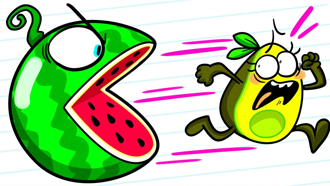 Watermelon Prank on Vegetables | Animated Shorts | Avocado Couple