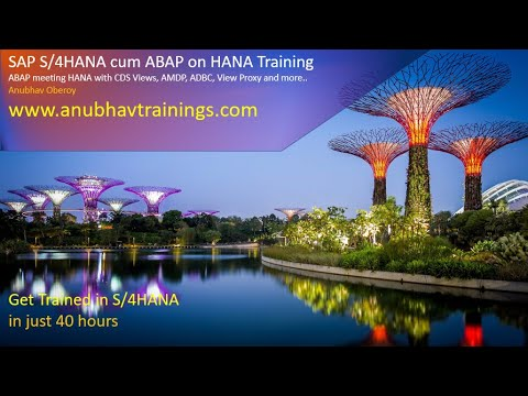 ABAP on HANA Training | S/4 HANA CDS Views | HANA on ABAP