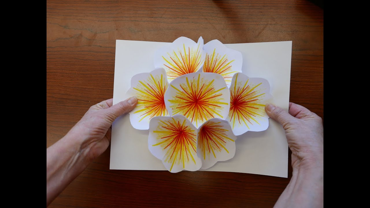 How To Make A Bouquet Flower Pop Up Card Youtube